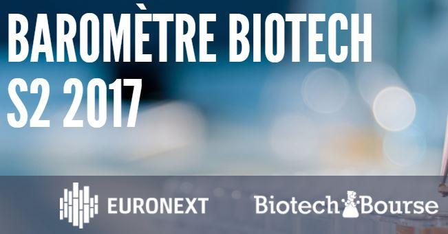 Euronext et BiotechBourse publient leur baromètre S2 2017 de la Biotech